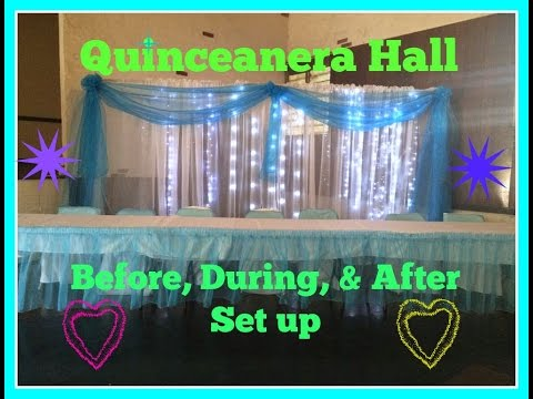 Easy Quince/Wedding Hall decorations
