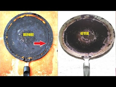 Tip: Cleaning Oil Layer formed Dosa Pan || How to clean dosa Pan/Tawa-How to clean nonstick dosa pan