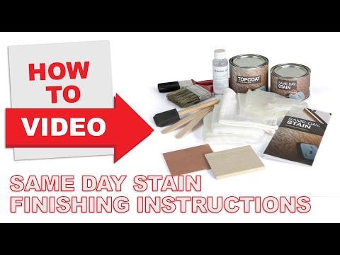 Same-Day Stain Instructions: Fiberglass Doors
