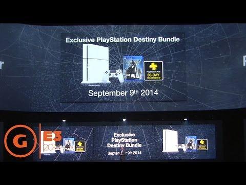 E3 2014 - Destiny PS4 Bundle Announcement at the Sony Press Conference