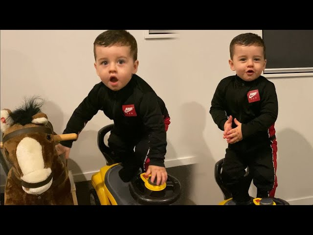 Download OUR BABY NOAH DOES STUNTS ON HIS CAR! LEARNING HOW TO SKATEBOARD? MP3 Gratis