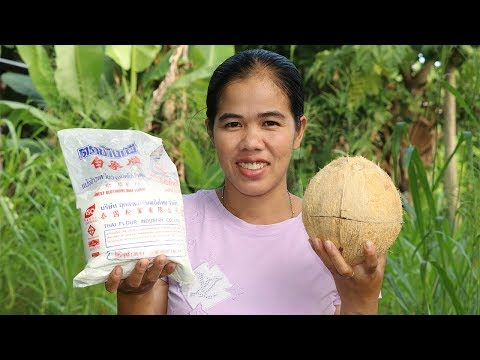 Family food  , Awesome Cooking glutinous rice flour W/ coconut  Recipe  -   Village Food Factory