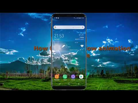 Android Nougat : How to Set Window animation scale in Samsung Galaxy S8 or S8+