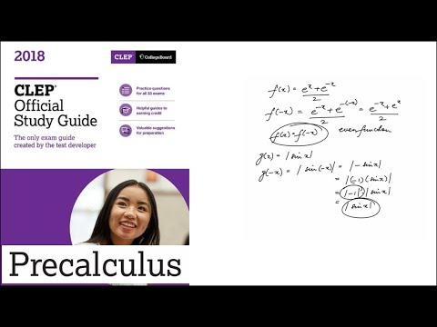 Question 01 Precalculus 2018 CLEP Official Study Guide