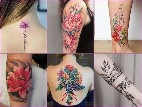50+ Gorgeous Floral Tattoos Designs For Womens