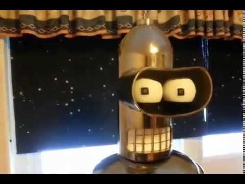 Bender robot futurama lifesize real build DIY motorized animatronic animatronics