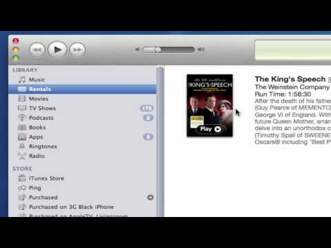 Sync rented movies from iTunes to Apple Devices