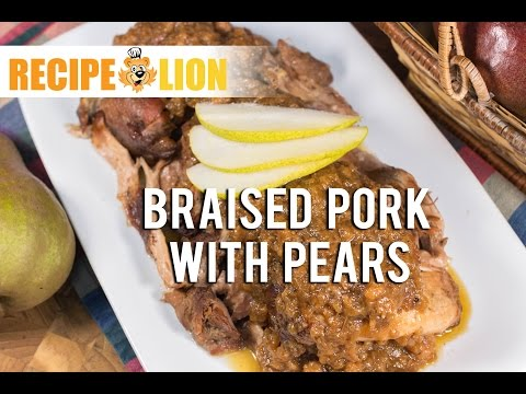 Braised Pork with Pears