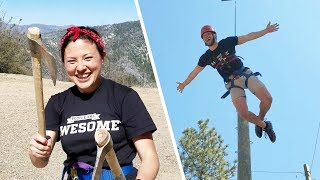Throwing Tomahawks & Zip Lining at Pali Mountains! | Thrill Seekers