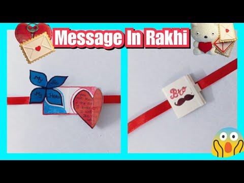 How to make Rakhi with message | DIY Rakhi | Message Rakhi