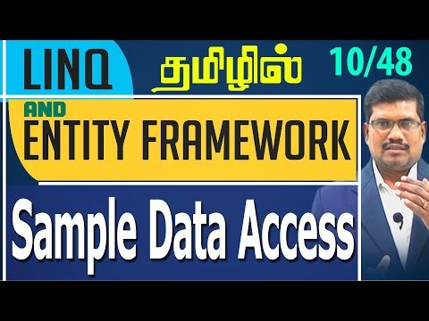 #10 Sample Data Access || LINQ and Entity framework in Tamil