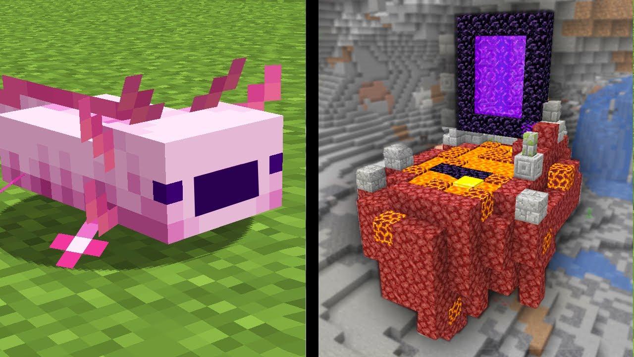 ✅ 50 Cosas Que No Sabías de Minecraft 1.17 Snapshot 21W18A - PORTALES FLOTANDO, AJOLOTES Y MÁS