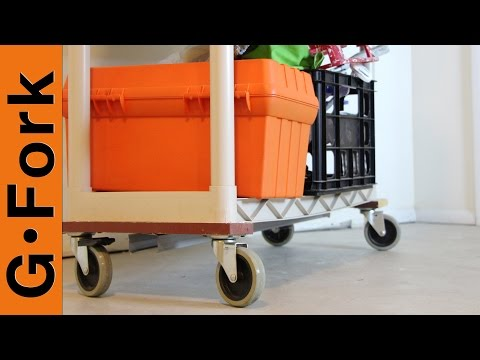 DIY Rolling Storage Shelves - GardenFork