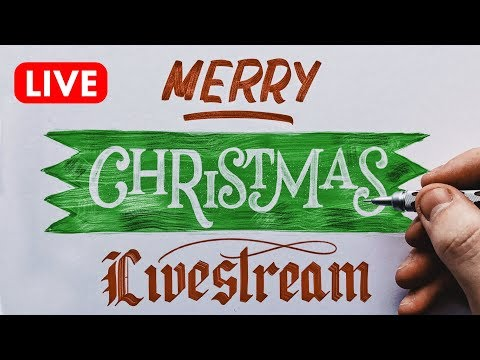 🔴  LIVE: Christmas Lettering With Will Paterson