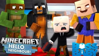 Minecraft HELLO NEIGHBOR - THE BOSS BABY POOS HIS PANTS IN THE NEIGHBOURS HOUSE - Donut the Dog