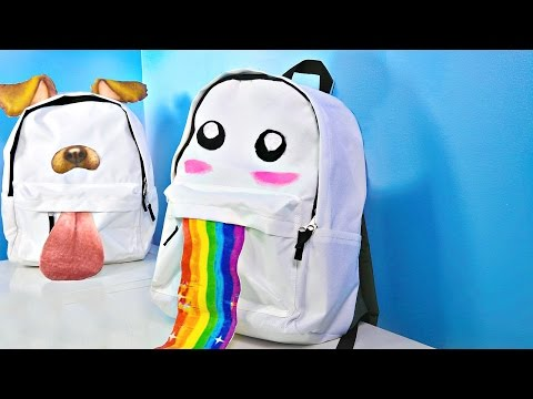 DIY Snapchat Filter Backpacks For Back To School!