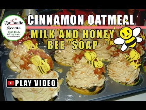 🐝Oatmeal Milk & Honey Bee Soap Cupcakes Romantic Scents