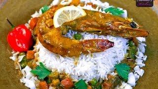 Thai coconut curry shrimp / روبيان بالكاري وصلصة جوز الهند