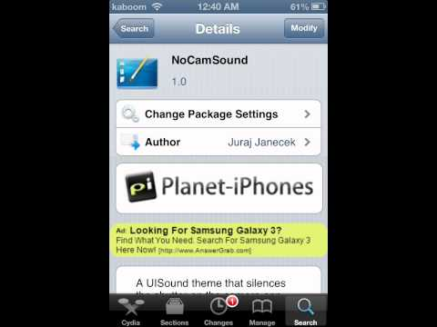 How to remove shutter sound from iphone and ipod touch camera (easy) (Jailbroken devices)