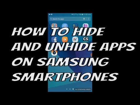 How to Hide and Unhide Apps In Samsung galaxy Android Phones | in urdu