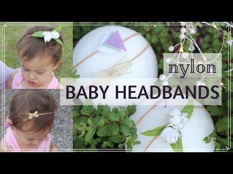 CUTE ALERT!! DIY NYLON BABY HEADBANDS tutorial | super soft & stretchy