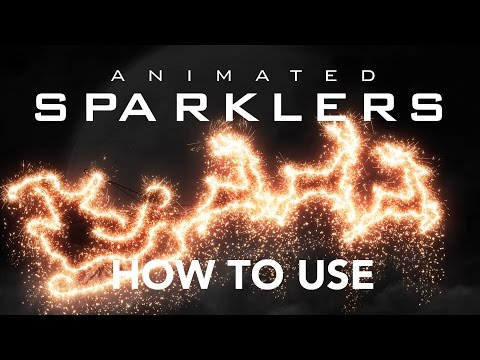 How to use - Gif Animated Sparklers Photoshop Action
