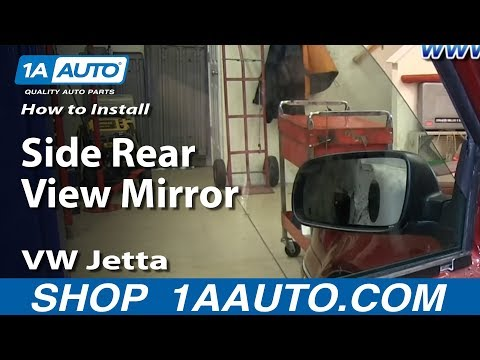 How To Install Replace Side Rear View Mirror 1999-05 VW Jetta and Golf