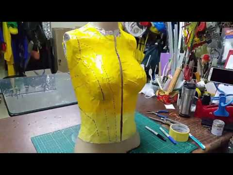 Female cosplay armor made from EVA foam - part 1