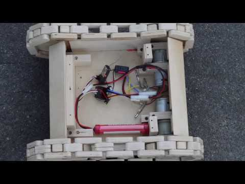 RC Wooden Tank Demo