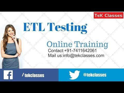 ETL Testing Training | | ETL Testing Video Tutorials