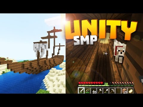 Minecraft Realms! - Unity SMP S2 Ep. 3 - TATTERED SAILS & SHIP DETAILS!