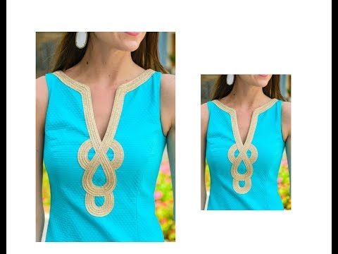 Latest Boat Neck Design for Churidar / Kurti - Very Simple & Easy Making