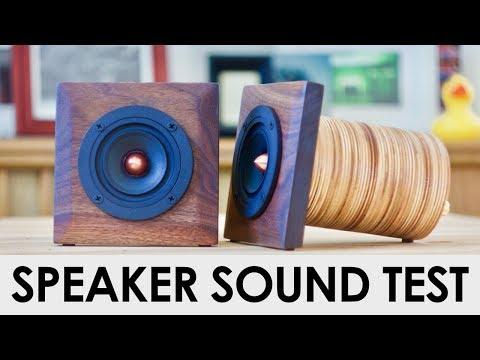 DIY Plywood Speaker Sound Test