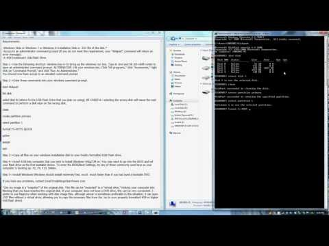 How To Create A Bootable Windows 8/7/Vista Installation USB Drive With A Command Prompt