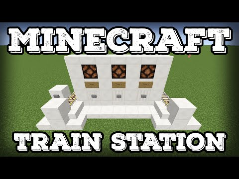 Minecraft Tutorial - Minecart Train Station - Compact - Expandable(Minecraft 1.12+)