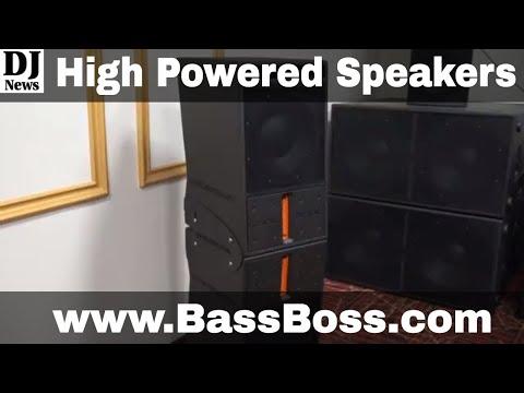BassBoss Speakers with DIY Line Array Option @BassBossRocks | Disc Jockey News