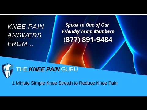 1 Minute Simple Knee Stretch to Reduce Knee Pain: Ask The Knee Pain Guru