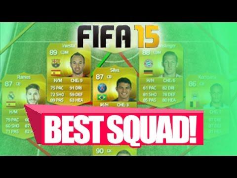 FIFA 15 ULTIMATE TEAM BEST POSSIBLE TEAM! Best Strikers, Midfielders, Defenders & Goalkeeper