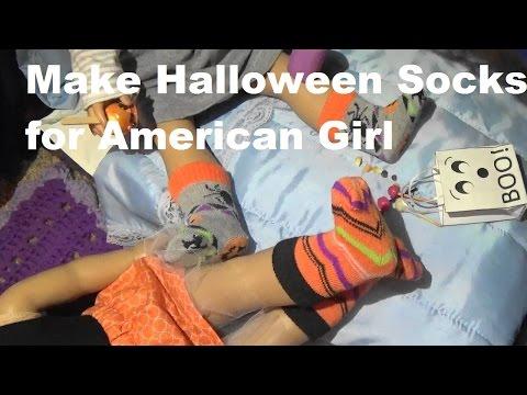 Make Halloween Socks for American Girl Dolls