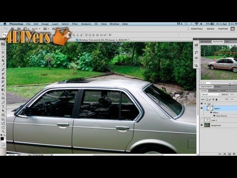 Adobe Photoshop: How to Tint a Vehicle's Windows