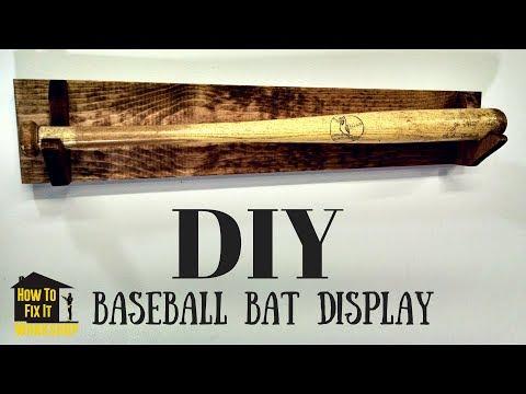 Simple DIY Baseball Bat Display Rack