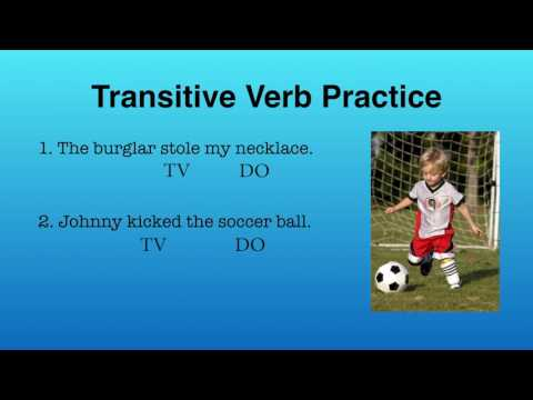 Transitive Intransitive and Ditransitive Verbs