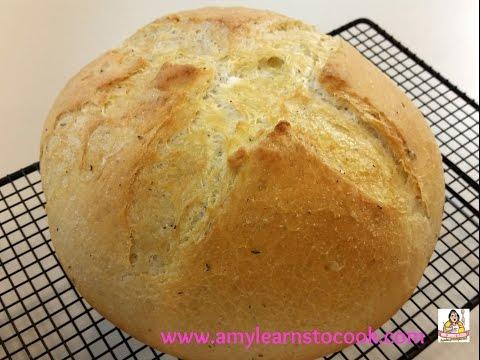 Garlic & Herb Dutch Oven Bread - KitchenAid Stand Mixer