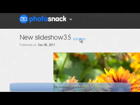 Create a Free slideshow for Facebook pages