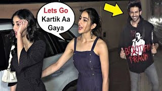 Download Sara Ali Khan And Ananya Pandey IGNORE Kartik Aryaan After He Double Date Them! Video