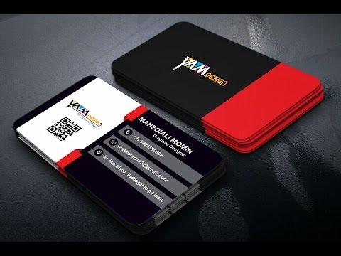business cards design coreldraw tutorial