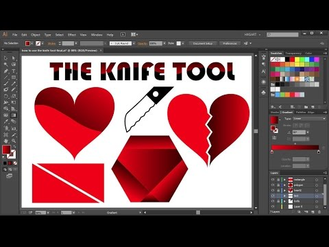 How to Cut a Shape in Adobe Illustrator - the Knife Tool