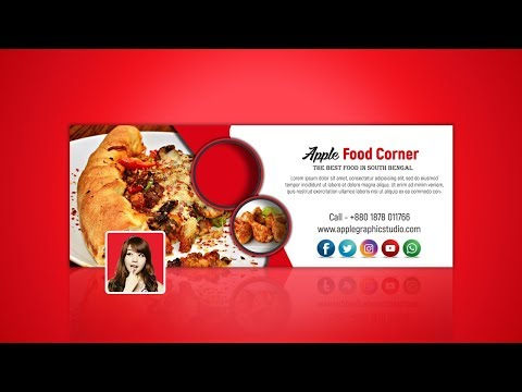 Restaurant Facebook Cover Photo Design - Photoshop Tutorial