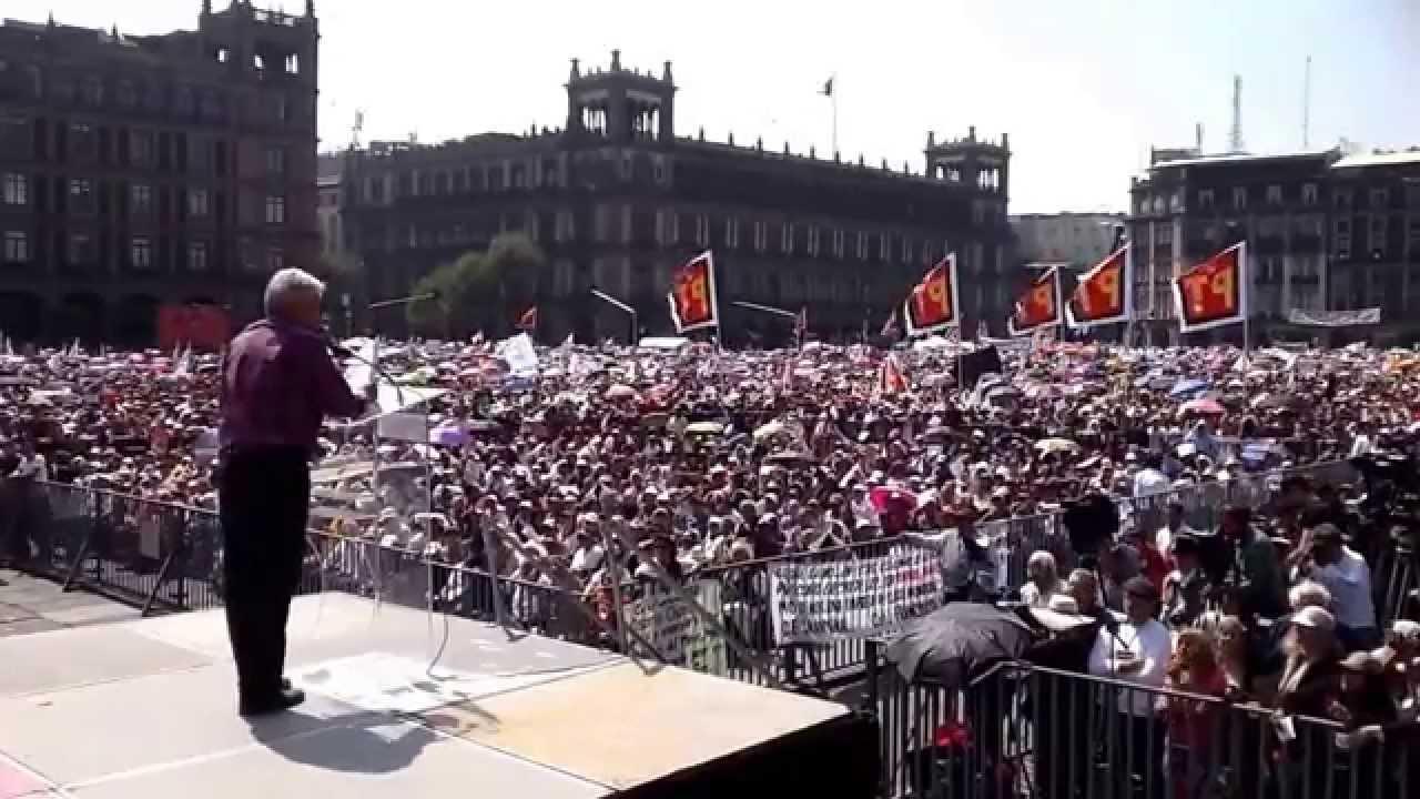 Palabras de AMLO en el Zócalo. 26 de octubre del 2014