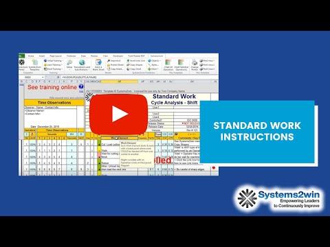 Standard Work Instructions
